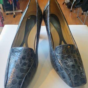 Naturalizer Croc skin patent heels